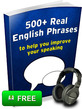 Free e-book from Espresso English 500 Real English Phrases